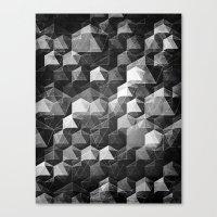 as the curtain falls (monochrome series) Canvas Print