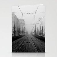 Foggy tramtracks Stationery Cards
