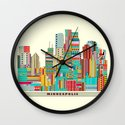 Minneapolis city  Wall Clock