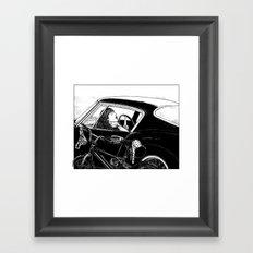 asc 432 - Le bolide noir (Never go into a black car) Framed Art Print
