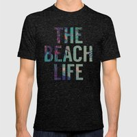 Beach Life Mens Fitted Tee Tri-Black SMALL