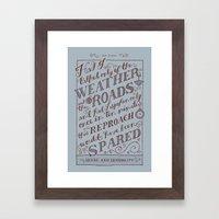 Jane Austen Covers: Sense and Sensibility Framed Art Print