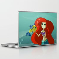 the little mermaid Laptop & iPad Skins featuring Little Mermaid by Kaori