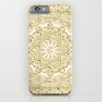 Orient Espresso Pattern Mandala Gold iPhone 6 Slim Case
