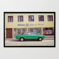 Turquoise Car Canvas Print