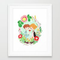 Happy Valentine's Day Framed Art Print