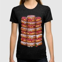 Donuts IV 'Merry Christmas' Womens Fitted Tee Tri-Black SMALL