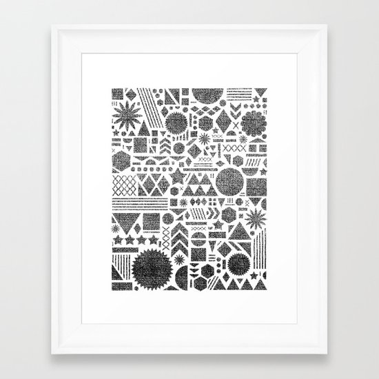 Modern Elements with Black. Framed Art Print