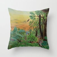 A Day Of Forest (9). (th… Throw Pillow