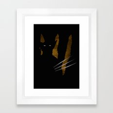 SuperHeroes Shadows : Wolverine Framed Art Print