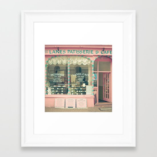 Sweet Cafe Framed Art Print