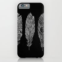 iPhone & iPod Case featuring Patterned Plumes - White by Kyle Naylor