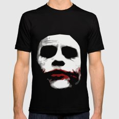 Why So Serious? Black SMALL Mens Fitted Tee