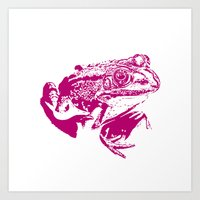 Pink Frog IV Art Print