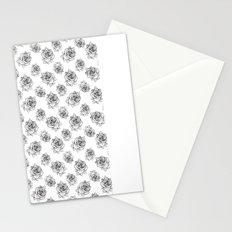 Rose Line Pattern Stationery Cards