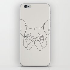 One Line French bulldog iPhone & iPod Skin