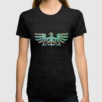 Inspired Aztec Pattern 2 Womens Fitted Tee Tri-Black SMALL