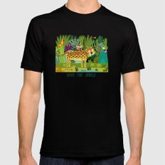 Jungle Mens Fitted Tee Black SMALL