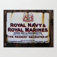 Royal Navy & Royal Marines Vintage Advert Canvas Print