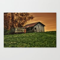 Barn On The Hill Canvas Print