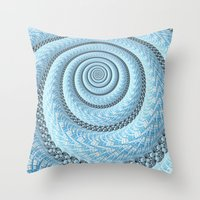 Spiral In Light Blue Throw Pillow