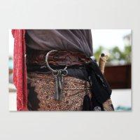 Pirate Series - Belts #3 Canvas Print