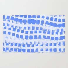 Abstract azure navy pattern Rug