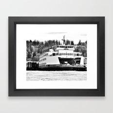 Puget Sound Ferry Framed Art Print