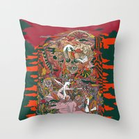 WIND THE SWAN Throw Pillow