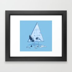 Bermuda triangle Framed Art Print