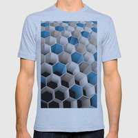 Honeycomb Mens Fitted Tee Athletic Blue SMALL