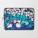 Turquoise and blue mosaic-(photograph) Laptop Sleeve