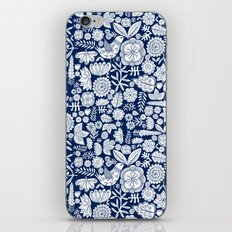 midnight blue garden party iPhone & iPod Skin