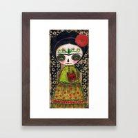 Frida The Catrina And Th… Framed Art Print