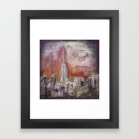 Boat over the City Framed Art Print
