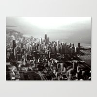 Chicago Skyline (tilt-shift) Canvas Print