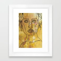 Yellow Woman Framed Art Print