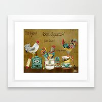 Roosters Majestic Framed Art Print