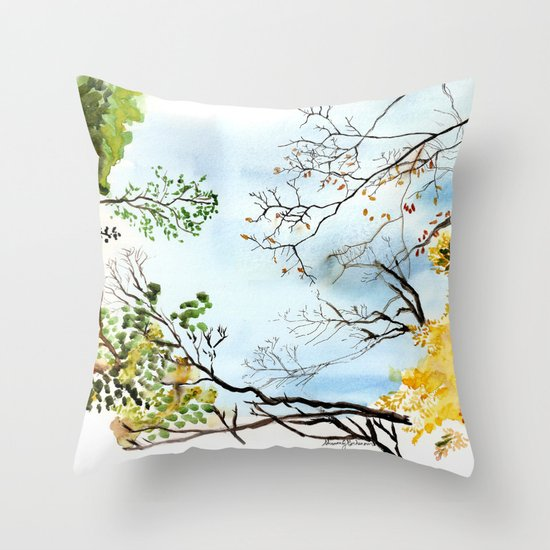 the only way out is up Throw Pillow