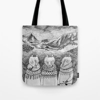 Icelandic foxes Tote Bag