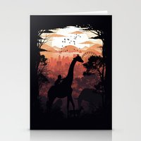 From City to Jungle Stationery Cards