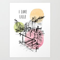 I love Lille Art Print
