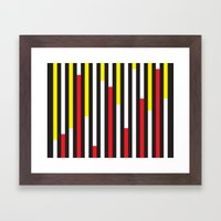 Black, Red & Yellow Stri… Framed Art Print