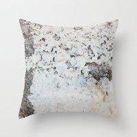 Peeling white wall Throw Pillow