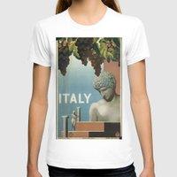 italy T-shirts featuring ITALY by Kathead Tarot