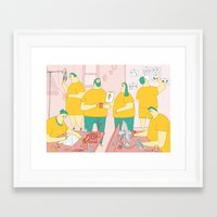 Superdoodle Framed Art Print