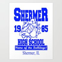 The Breakfast Club     Shermer High School Logo     John Hughes Universe Art Print