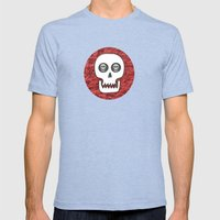 Skull Poppy Mens Fitted Tee Tri-Blue SMALL