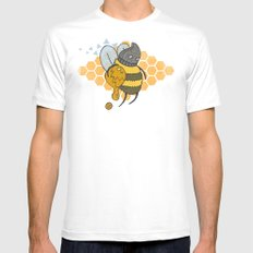 Bee Thief White Mens Fitted Tee SMALL