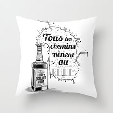 Tous les chemins... Throw Pillow